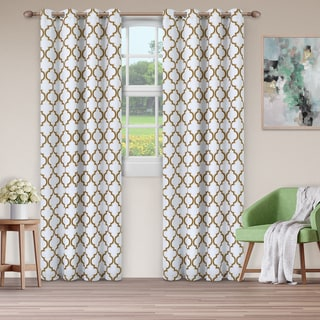 Link to Superior Bohemian Trellis Blackout Grommet Curtain Panel Pair Similar Items in Curtains & Drapes