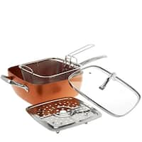 Copper Cook Square Pan 4-in-1 Sset