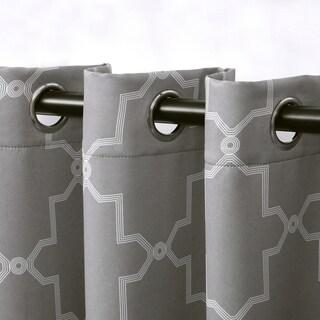 Superior Imperial Trellis Blackout Grommet Curtain Panel Pair