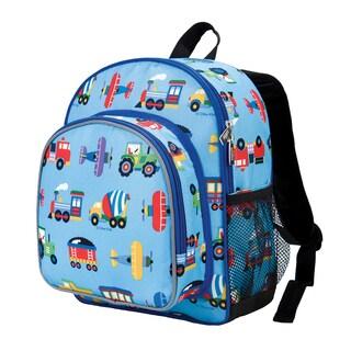 Wildkin Trains, Planes & Trucks Pack 'n Snack Blue Backpack