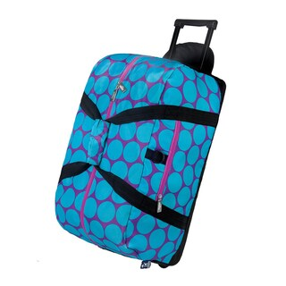 Wildkin Big Dot Aqua Rolling Duffel Bag
