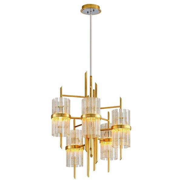 gold leaf chandelier currey and company corbett lighting symphony 5light gold leaf chandelier with polished stainless accents shop