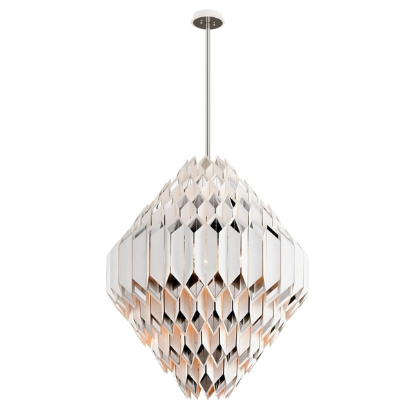 Corbett Lighting Haiku 24-light White Pendant with Polished Stainless Accents
