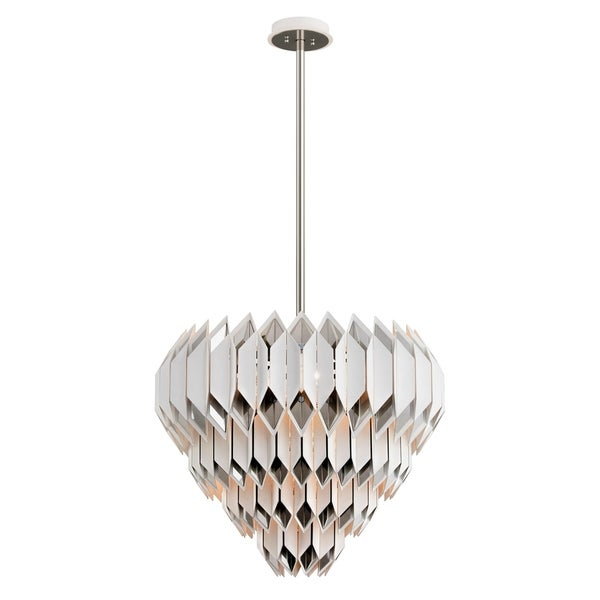 Corbett Lighting Haiku 13-light White Pendant with Polished Stainless Accents