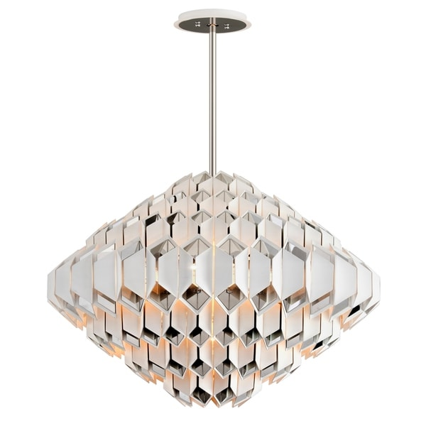 Corbett Lighting Haiku 17-light White Pendant with Polished Stainless Accents