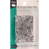 Dritz Curved Safety Pins 40/Pkg
