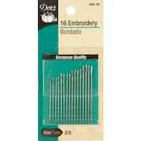 Dritz Embroidery Hand Needles 16/Pkg