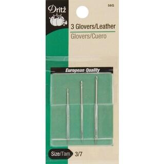 Dritz Glovers/Leather Hand Needles 3/Pkg