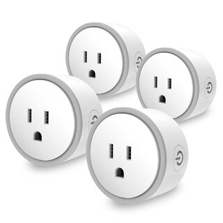 Elf Smart Plug- Works with Google Home &Alexa- UL Certified- Fireproof Material- Equipped with Over-Charging Protection (4 Pack)