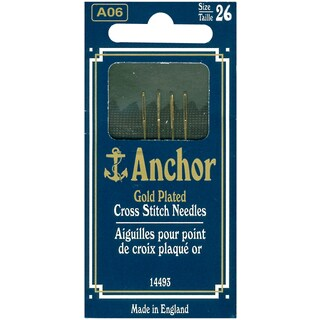 Anchor Gold-Plated Cross Stitch Needles