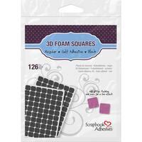 Scrapbook Adhesives 3D Self-Adhesive Foam Squares 126/Pkg