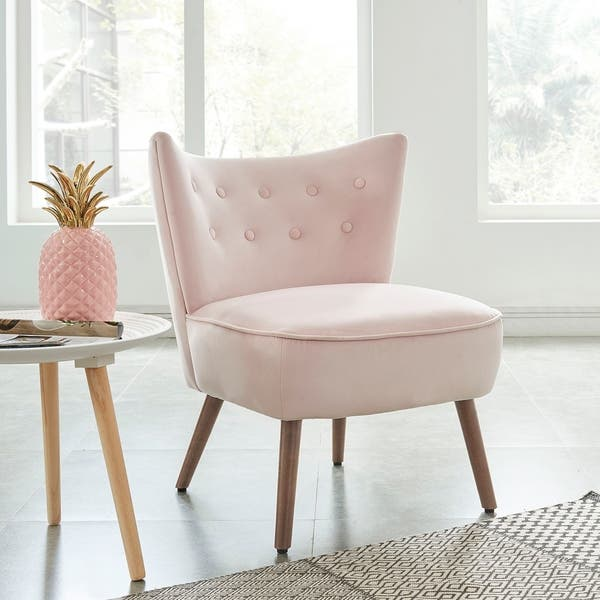 Peachy Shop Elle Accent Chair Blush Free Shipping Today Bralicious Painted Fabric Chair Ideas Braliciousco