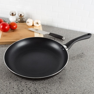 Non Stick 12 Inch Frying Pan with Heat Safe Handle- by Classic Cuisine (Black)