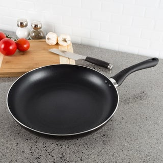 Non Stick 12 Frying Pan with Heat Safe Handle- by Classic Cuisine (Black)