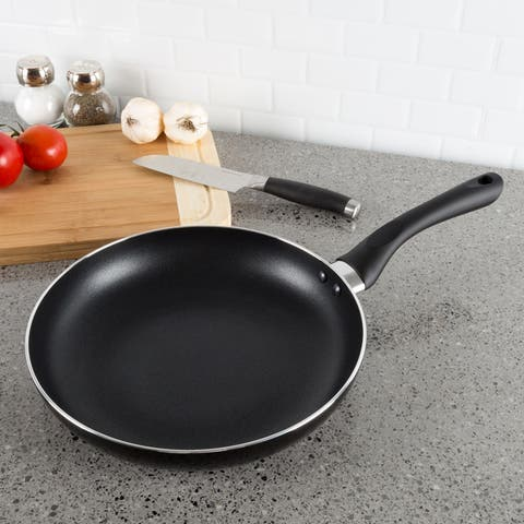 Non Stick 10 Inch Frying Pan with Heat Safe Handle- by Classic Cuisine (Black)
