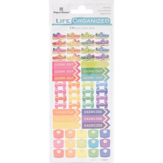 Paper House Life Organized Functional Stickers