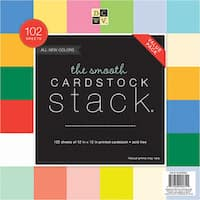 "DCWV Single-Sided Cardstock Stack 12""X12"" 102/Pkg"