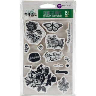 """Zella Teal Cling Rubber Stamps 4""""X6"""""""