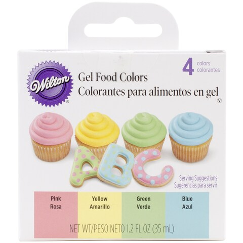 Gel Food Colors .3oz 4/Pkg