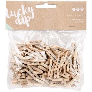 Lucky Dip Mini Pegs 100/Pkg