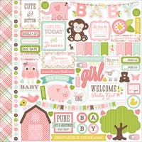 """Bundle Of Joy/A New Addition Cardstock Stickers 12""""X12"""""""