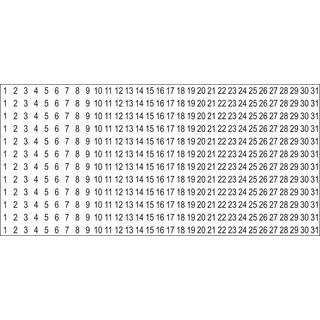 SRM Calendar Number Stickers