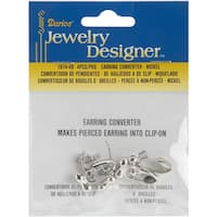 Earring Converters Pierced To Clip-On 4/Pkg