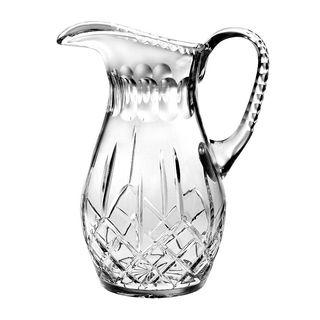 "Majestic Gifts Hand Cut - Mouth Blown Crystal Pitcher - 52oz. - 10.25"" height - Made in Europe"