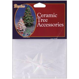 "Ceramic Christmas Tree Stars 2.75""X1.875"" 2/Pkg"