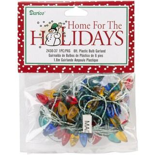 Plastic Christmas Tree Bulbs 6' Garland