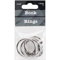 "Book Rings 1"" 4/Pkg"