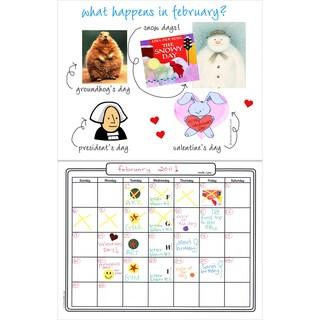 """Make Your Own Calendar Book 11""""X8.5"""""""