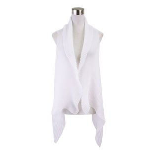 Le Nom Spring and Fall Fashion Pleated Chiffon Scarf Vest