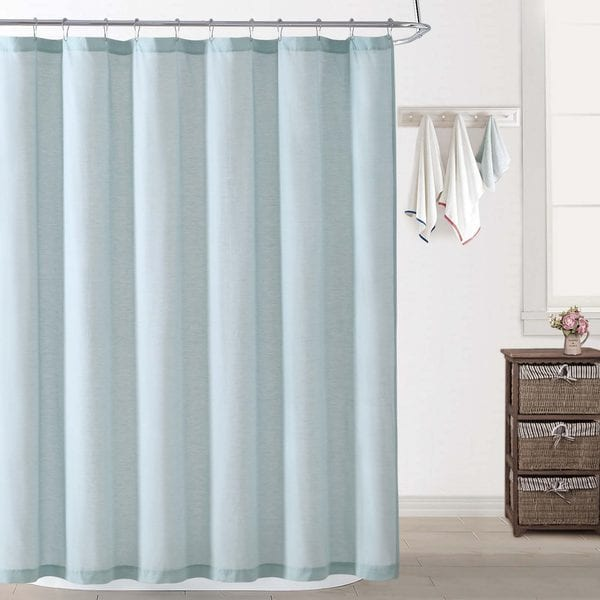 Ocean Front Resort Chambray Coast Cotton Shower Curtain - Free ...