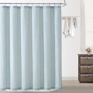 Ocean Front Resort Chambray Coast Cotton Shower Curtain