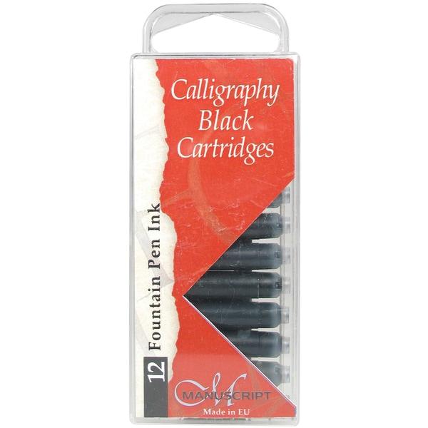 Manuscript Fountain Pen Ink Cartridges 12/Pkg