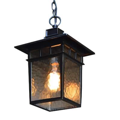 Cullen 1 Light Hanging Exterior Lighting in Imperial Black Finish