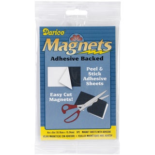 Adhesive Magnetic Sheets 3/Pkg