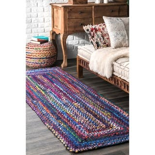 The Curated Nomad Grove Handmade Multicolor Area Runner Rug 2 6 X
