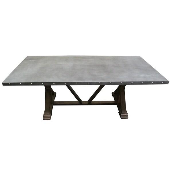 b7b4379cb2cd Shop Best Master Furniture Galvanized Dining Table - Grey/Oak - Free ...