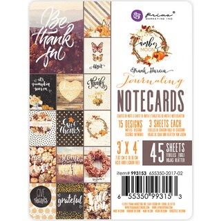 """Amber Moon Double-Sided Journaling Cards 3""""X4"""" 45/Pkg"""