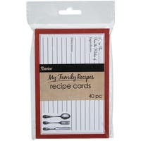 My Family Recipe Cards 40/Pkg