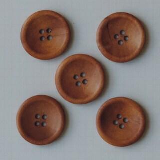 Wooden Buttons 5/Pkg