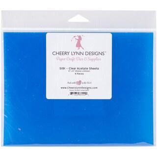 "Cheery Lynn Acetate Sheets 6""X8"" 4/Pkg"