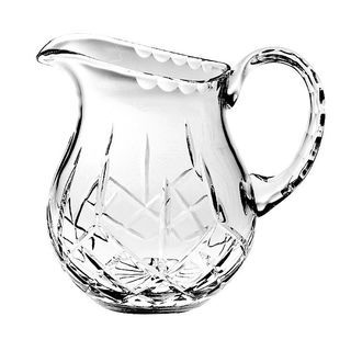 """Majestic Gifts Hand Cut - Mouth Blown Crystal Pitcher - 38oz. -7"""" height - Made in Europe"""