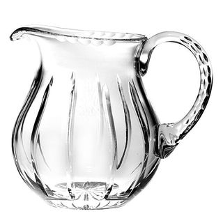"""Majestic Gifts Hand Cut - Mouth Blown Crystal Pitcher -38oz. -7"""" height - Made in Europe"""