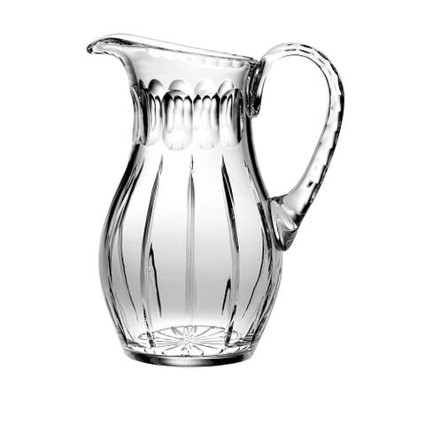 """Majestic Gifts Hand Cut - Mouth Blown Crystal Pitcher - 52oz. -10.25"""" height - Made in Europe"""