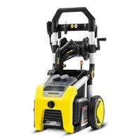 K2000 - 2000 PSI Electric PW w/Wheels, folding handle. Dual detergent tank hose reel