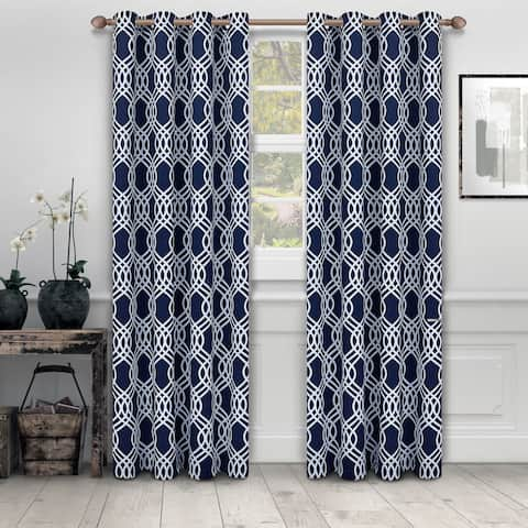 Superior Ribbon Blackout Grommet Curtain Panel Pair