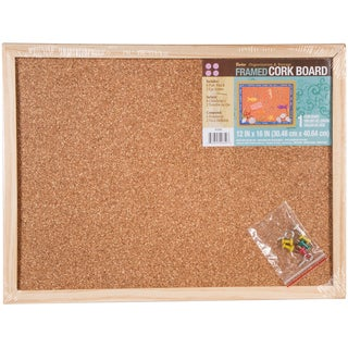 Framed Cork Memo Board 12X16